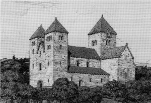 Domkirken slik Olaf Nordhagen mente den kunne ha sett ut