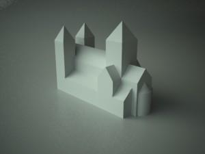 Modell av hamar domkirke - del 1